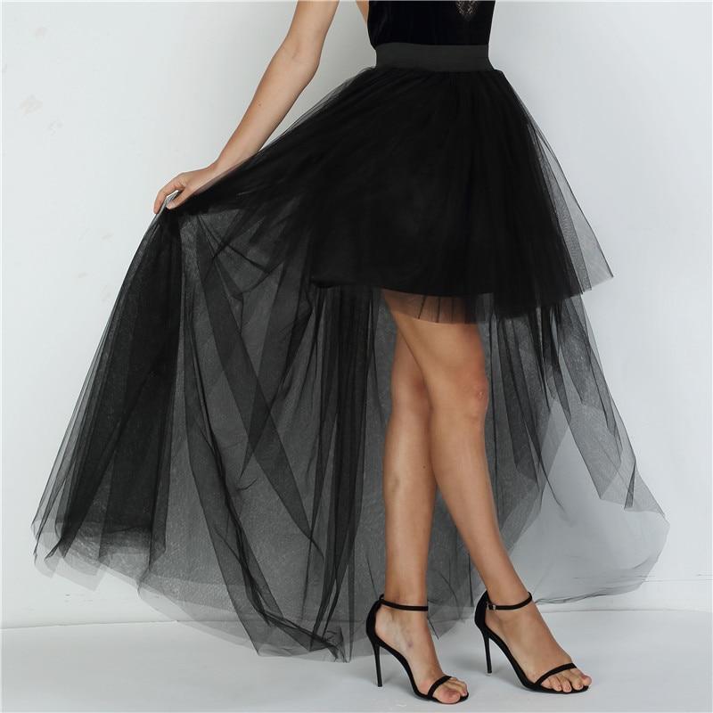 높은 허리 불규칙한 얇은 치마 새로운 패션 긴 검은 투투 스커트 볼 가운 여성 Saias faldas mujer moda 2020/높은 허리 불규칙한 얇은 치마 새로운 패션 긴 검은 투투 스커트 볼 가운 여성 Saias faldas mujer