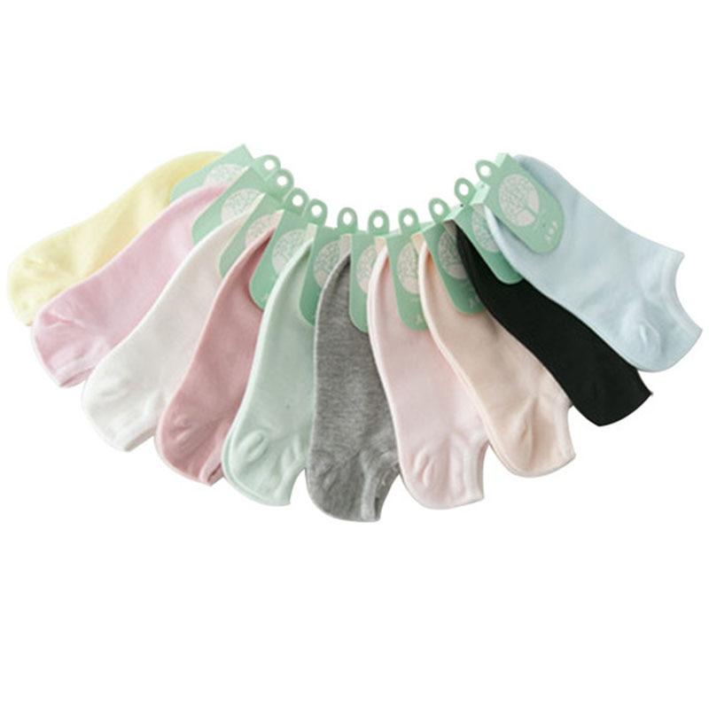 5 쌍 여성 양말 캐주얼 귀여운 코튼 통기성 캔디 컬러 패션 앵클 보트 로우 컷 짧은 양말 여성 양말 짧은 슬리퍼