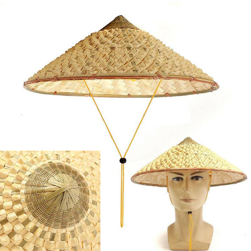 새로운-베트남어 일본 Coolie 짚 대나무 콘 태양 모자 정원 농부 낚시