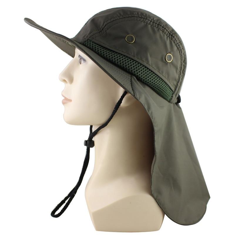 새로 낚시 보트 하이킹 모자 와이드 브림 귀 목 커버 야외 태양 플랩 모자 DOD886
