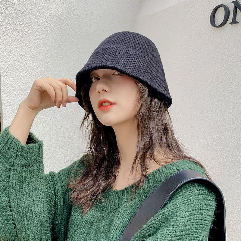 겨울 양동이 모자 파나마 모자 여성용 야외 방풍 kitted 양모 따뜻한 가을 여성 낚시 모자 gorros