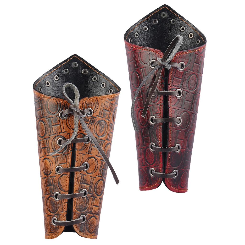 펑크 고딕 pu 가죽 손목 bracer 팔 갑옷 수호자 팔찌 양각 된 leathery 바이 커 motorcyclist 의상 팔 따뜻하게