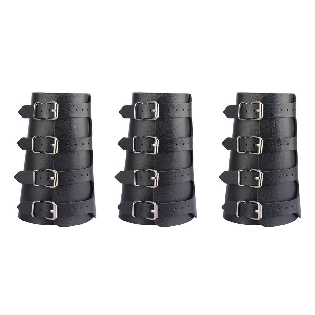 3 중세 팔 갑옷 bracers 스트랩 커프 랩 팔찌 버클 고정 팔 팔목 팔찌 크로스 문자열 steampunk 코스프레