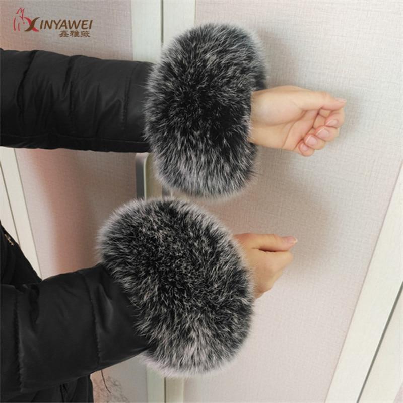 고품질 여우 모피 팔목 큰 제안 손목 온열 장치 진짜 여우 모피 팔목 여자 팔찌 진짜 가죽 팔목 장갑 customizable.