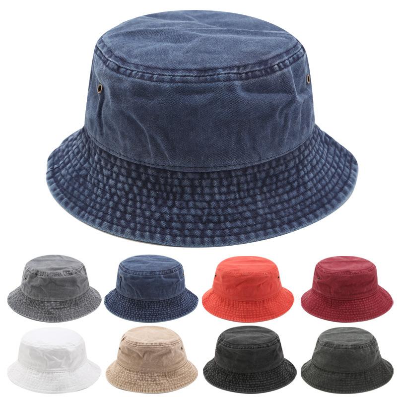 레트로 데님 양동이 모자 파나마 남성 여성 플랫 모자 캐주얼 야외 힙합 모자 여름 소프트 낚시 태양 모자 2020 새로운