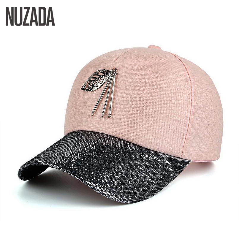 [해외]브랜드 NUZADA 2017 봄 여름 가을 여성 남성 Snapback 야구 모자 뼈 금속 나뭇잎 모자 힙합 고급 재킷 모자/Brand NUZADA 2017 Spring Summer Autumn Women Men Snapback Baseball Cap Bone M
