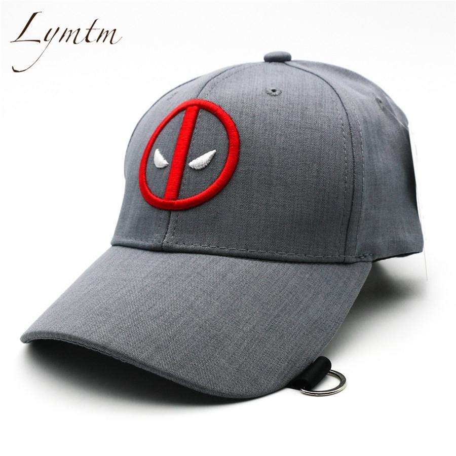 [해외][Lymtm] 2018 년 여름 Deadpool 자수 야구 모자 재미 있은 놀라운 일 모자 조정 가능한 Snapback Casquette 하키 모자/[Lymtm] 2018 Summer Deadpool Embroidery Baseball Caps Funny Mar