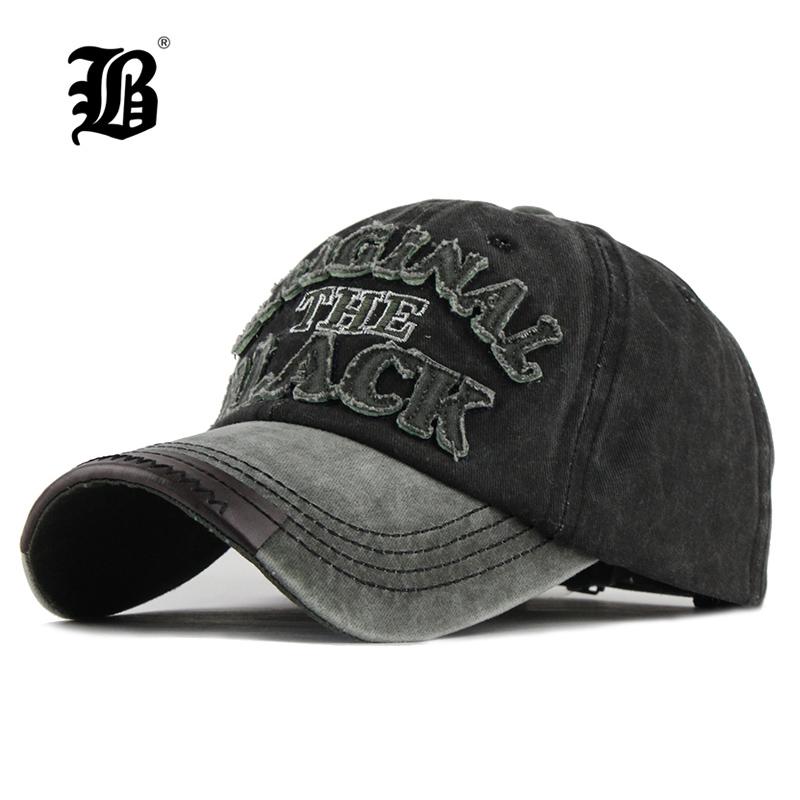 [해외][FLB] Hot 복고풍 씻어 야구 모자 장착 모자 Snapback 모자 여성 뼈 여성 Gorras 캐주얼 카스 켓 편지 블랙 캡 F122/[FLB] Hot Retro Washed Baseball Cap Fitted Cap Snapback Hat For Men