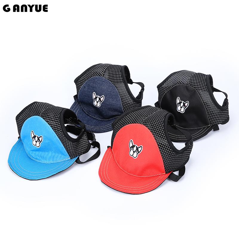 [해외]GANYUE 애완 동물 태양 모자 불독 패턴 강아지 모자 여행 태양 모자 야외 바이저 모자 메쉬 통풍 애완 동물 야구 모자/GANYUE Pet Sun Hat Bulldog pattern Dog Hat Travel Sun Hats Outdoor Visor Hat
