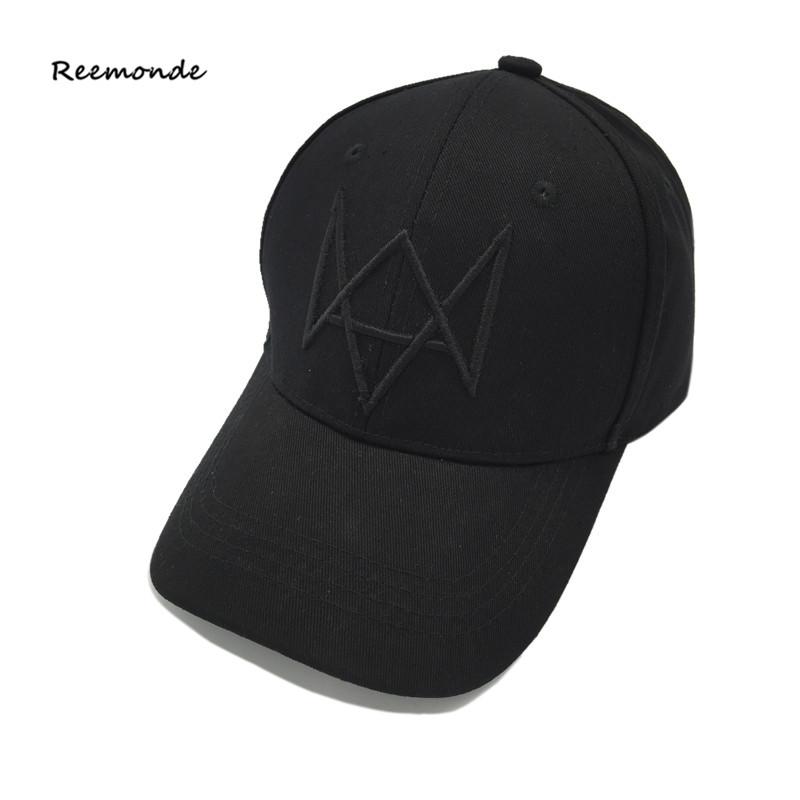 [해외]REEMONDE 시계 개 2 에이든 피어스 햇 마스크 조정 가능한 검은 아빠 Snapback 야구 모자 파티 할로윈 힙합 남자 뼈 모자/REEMONDE Watch Dogs 2 Aiden Pearce Hat Masks Adjustable Black Dad Snap