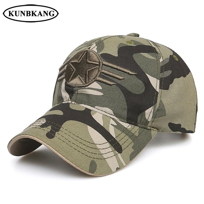 [해외]새로운 남성 미국 위장 야구 모자 스타 육군 전술 트럭 모자 고라 여성 야외 캐주얼 공군 카모 Snapback 아빠 모자/New Men US Camouflage Baseball Cap Star Army Tactical Trucker Cap Gorras Women