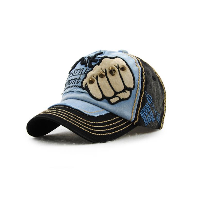 [해외]자수 편지 야구 모자 남자 목화 주먹 스냅 백 모자 캐주얼 스프링 힙합 모자 UniRivets Casquette Hats/Embroidery Letters Baseball Caps Men Cotton Fist Snapback Hat Casual Spring Hi