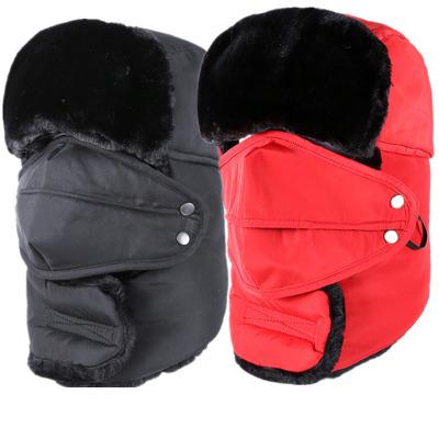 ... 여자 두꺼운 모피 겨울 귀마개 따뜻한 모자 유지 귀 플랩 및 마스크 2017 Winter Hat Bomber Hats For  Men Women Thicken Fur Winter Earflap Keep Warm Caps Ear 9314e4f30fe5