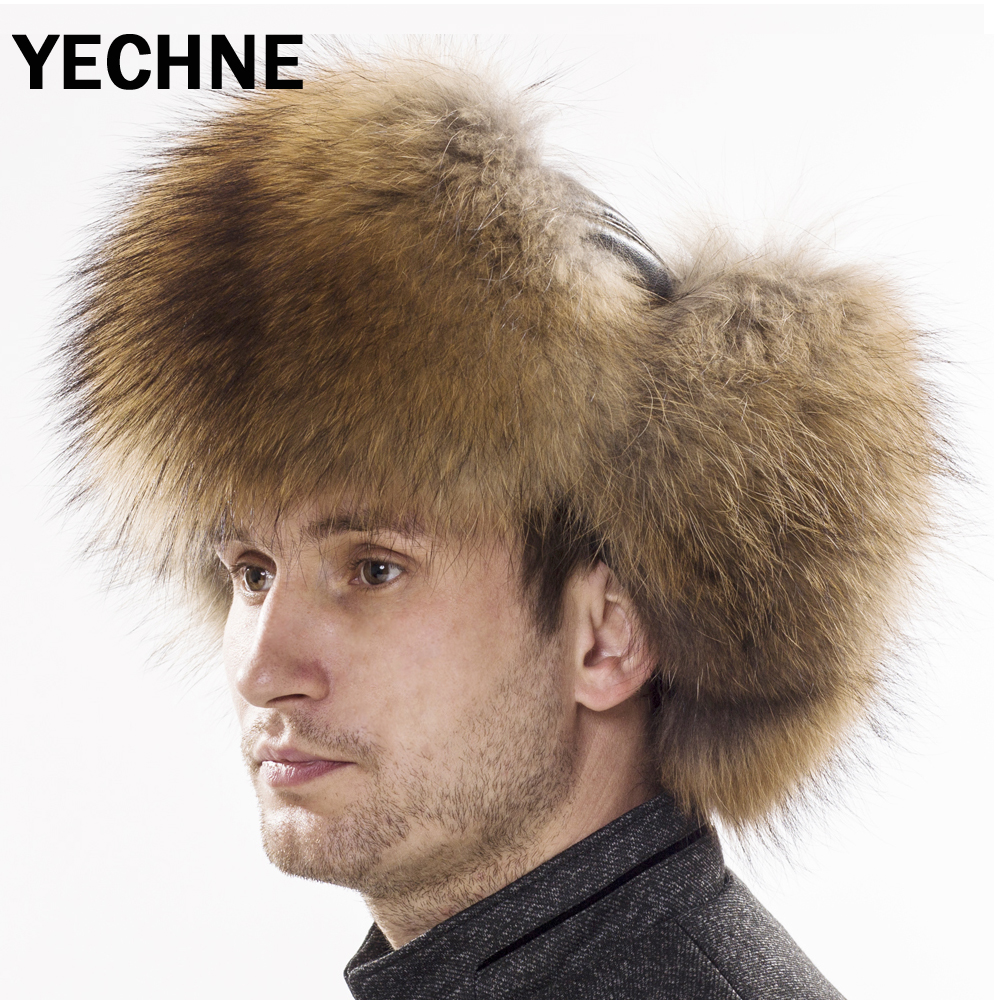 8c92cb35c07 ... 모피 가죽 폭격기 모자 실버 여우 모피 남성 Lei 펭 폭탄 모자 중년 가죽 귀에 플랩 모자 Men Raccoon Fur  Hats Fox Fur Leather Bomber Caps Silver Fox Fur Male ...