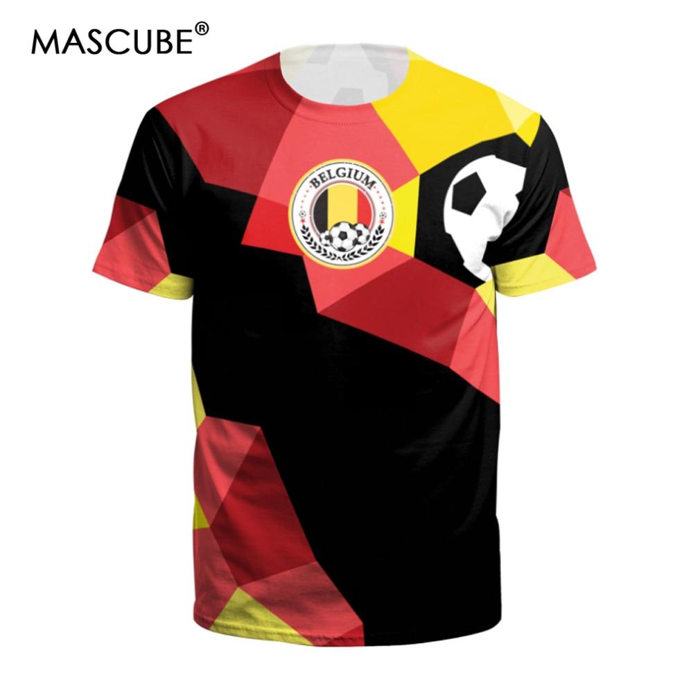 [해외]MASCUBE 2018 축구 컵 독일 팀 남자 티셔츠 플래그 프린트 반Retail 오목 크로 셰 뜨개질 티셔츠 탑 셔츠/MASCUBE 2018 Soccer Cup Germany Team Men Tshirts Flag Printing Short Sleeve O-n