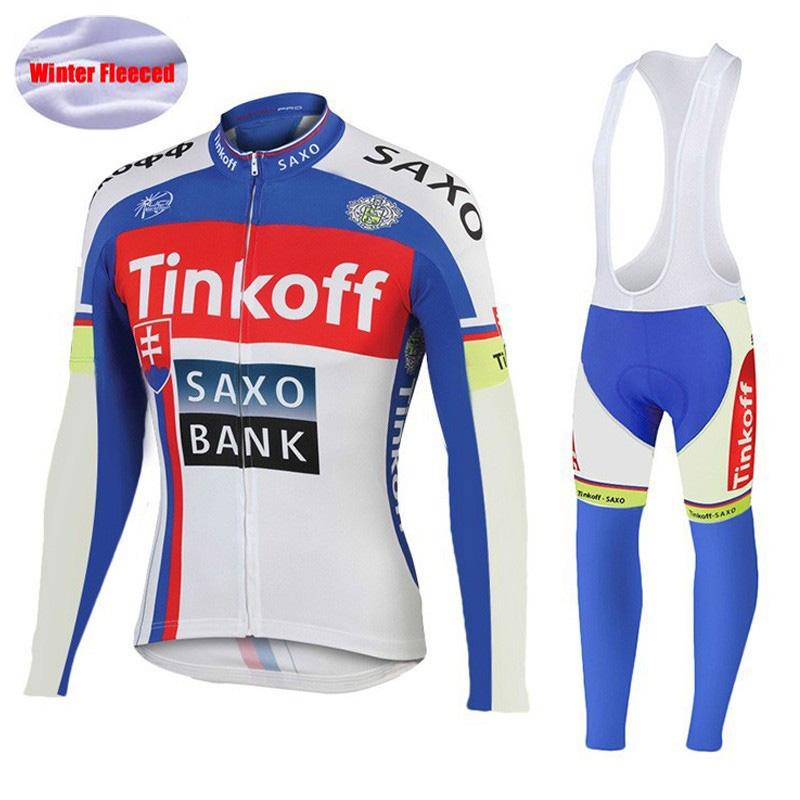 [해외]2016 년 겨울 열전달 양털 전문가 팀 긴 Retail Tinkoff 사이클링 저지 / Ropa Maillot Invierno Ciclismo 자전거 싸이클링웨어/2016 Winter Thermal Fleece Pro Team Long Sleeve Tinkof