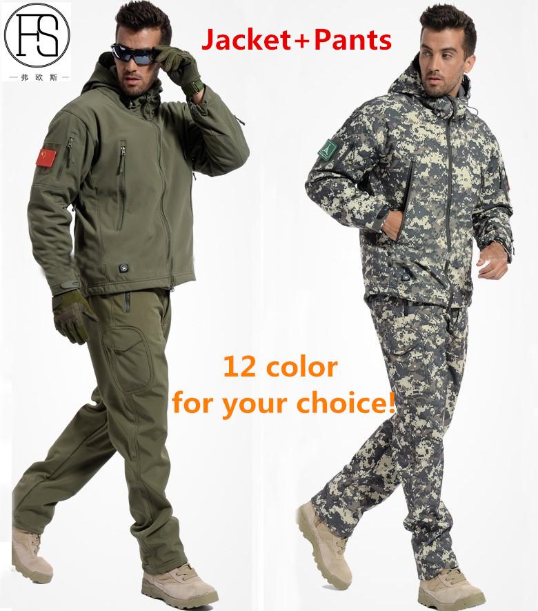 [해외]?남자 군대 전술 밀리터리 야외 스포츠 정장 사냥 캠핑 등산 방풍 TAD 상어 가죽 자켓 바지/ Men Army Tactical Military Outdoor Sports Suit Hunting Camping Climbing Waterproof Windproof