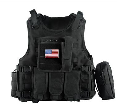 [해외]2017 밀리터리 전술 조끼 위장 바디 아머 스포츠 착용 사냥 조끼 육군 기동대 전투 Molle 경찰 방탄 조끼 블랙/2017 Military Tactical Vest Camouflage Body Armor Sports Wear Hunting Vest Army