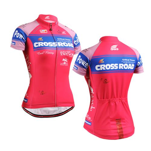[해외]2016 자전거 팀 여성 핑크색 폴리 에스터 사이클링 저지 탑스 여자 짧은 Retail 자전거 의류 여름 스타일/2016 Bike team women pink polyester Cycling jersey tops girls short sleeve bike clo