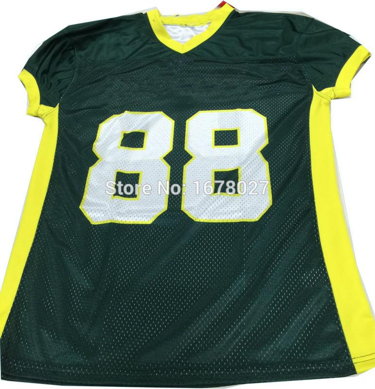 [해외]OEM 포리 스트 그린과 네온 옐로우 미국의 세련된 축구 셔츠/OEM Forest Green And Neon Yellow American Stylish Football Shirts