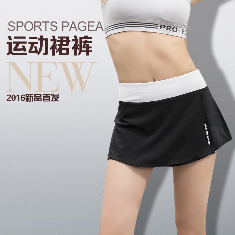 [해외]스포츠 스커트 여성 여름 자체 재배 얇은 스커트 바지 스포츠 휘트니스 운동 테니스 옷을 실행했다/Sports skirt women summer self - cultivation was thin skirts pants sports fitness running te