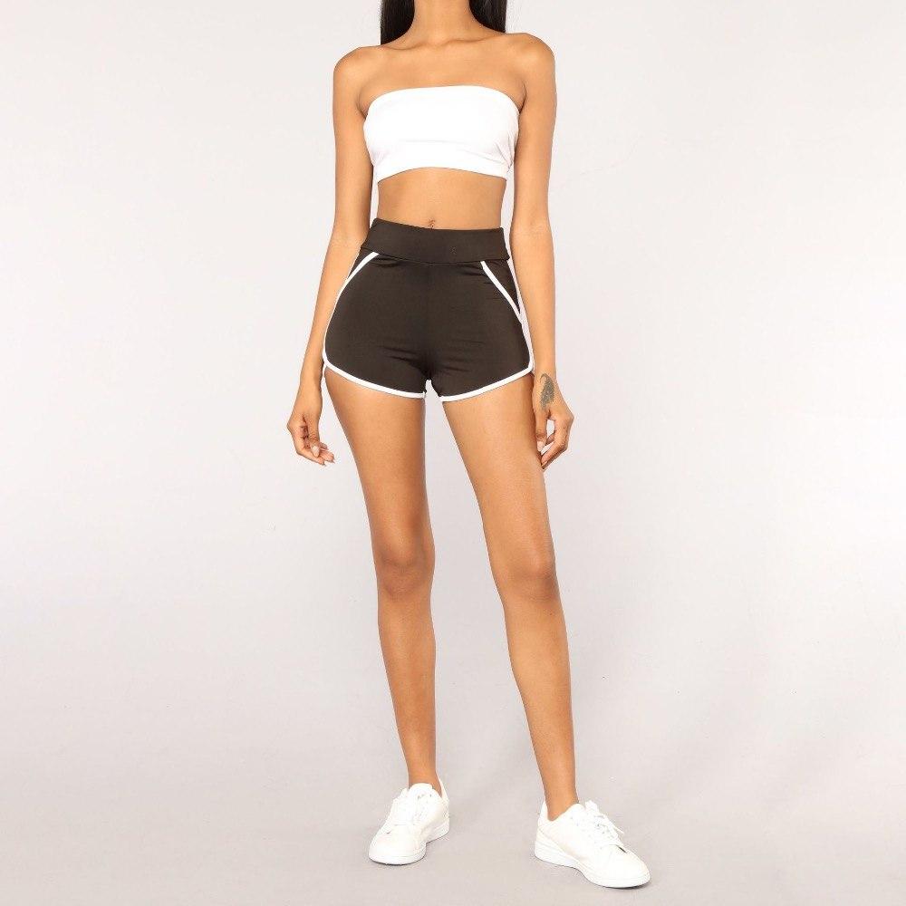 [해외]신축성있는 슬림 피트 스포츠 반바지 여성 나일론 언급 엉덩이 피트니스 체육관 운동 반바지 하이 웨이스트 솔리드 요가 댄스 반바지/Stretchy Slim Fit Sport Shorts Women Nylon Mention Hip Fitness Gym Workout