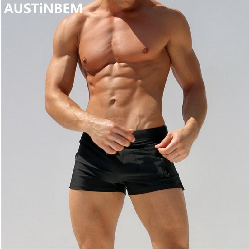 [해외]2017 AUSTiNBEM 수영복 남성 비치 수영 트렁크 비치 반바지 솔리드 컬러 남성 수영 시계 maillot de bain homme/2017 AUSTiNBEM Swimwear Men Beach Swimming Trunks Beach Shorts Solid