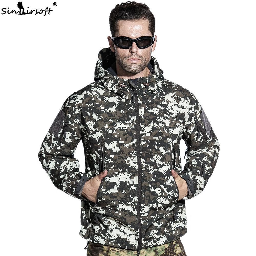 [해외]SINAIRSOF 자켓 군대 전술 남성 코트 루퍼 상어 피부 소프트 쉘 방수 방풍 사냥 야영 윈드 윈드/SINAIRSOF Jacket Military Army Tactical Men Coat Lurker Shark Skin Soft Shell Waterproof