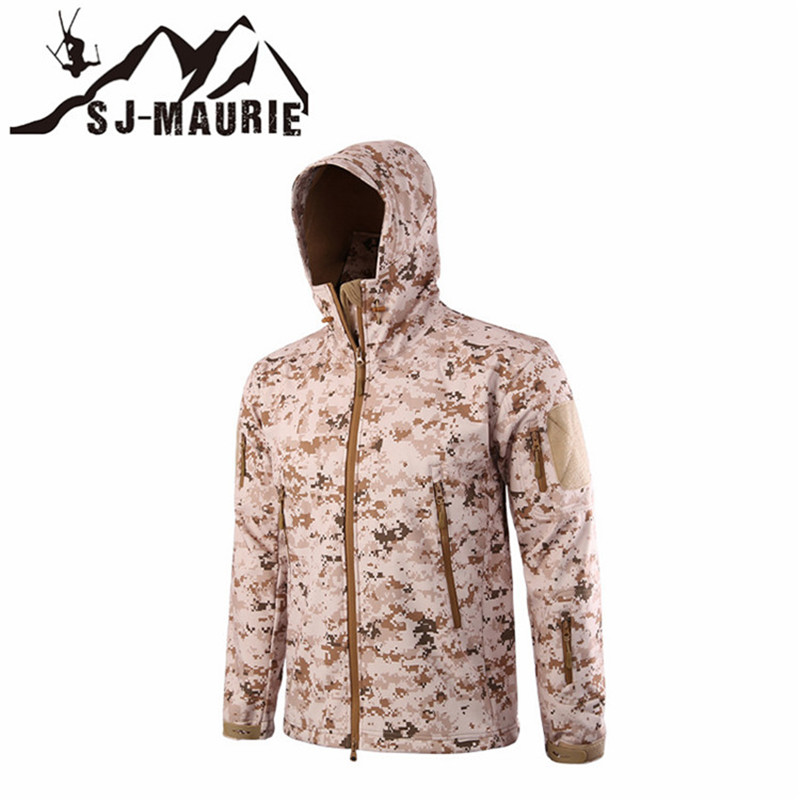 [해외]야외 위장 방수 Softshell 방풍 전술 사냥 재킷 낚시 트레킹 양털 남자 코트 육군 밀리터리 재킷/Outdoor Camouflage Waterproof Softshell Windproof Tactical Hunting Jacket Fishing Trekki