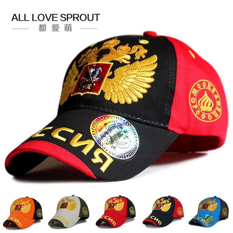 [해외]2016 러시아어 더블 향하고 독수리 야구 모자 면화 블랙 패션 남자 모자 모자 정복 모자 snapback 모자/2016 Russian double headed eagle baseball cap Cotton Black fashion men caps peaked