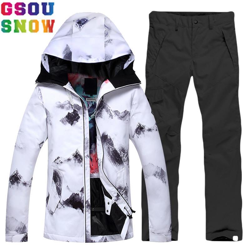 [해외]GSOU SNOW 브랜드 스키 정장 여성 스키 자켓 바지 방수 싸구려 스키 정장 겨울 야외 숙녀 스노우 보드 세트 스포츠 의류/GSOU SNOW Brand Ski Suit Women Ski Jacket Pants Waterproof Cheap Skiing Sui