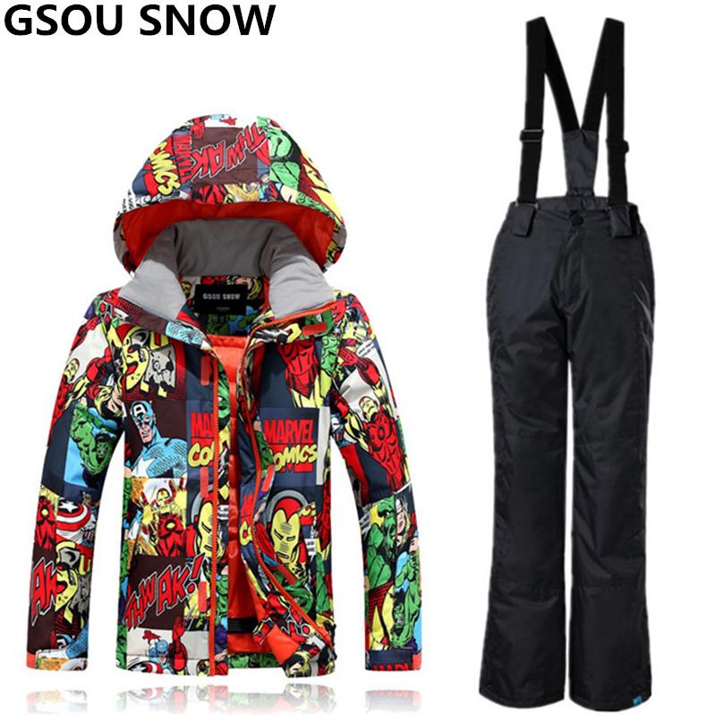 [해외]GSOU SNOW 겨울 스키 정장 소년 소녀 방수 Windproof 어린이 스노우 보드 정장 슈퍼 따뜻한 야외 스키 및 스노우 보드/GSOU SNOW Winter Ski Suit For Boys Girls Waterproof Windproof Kids Snowb