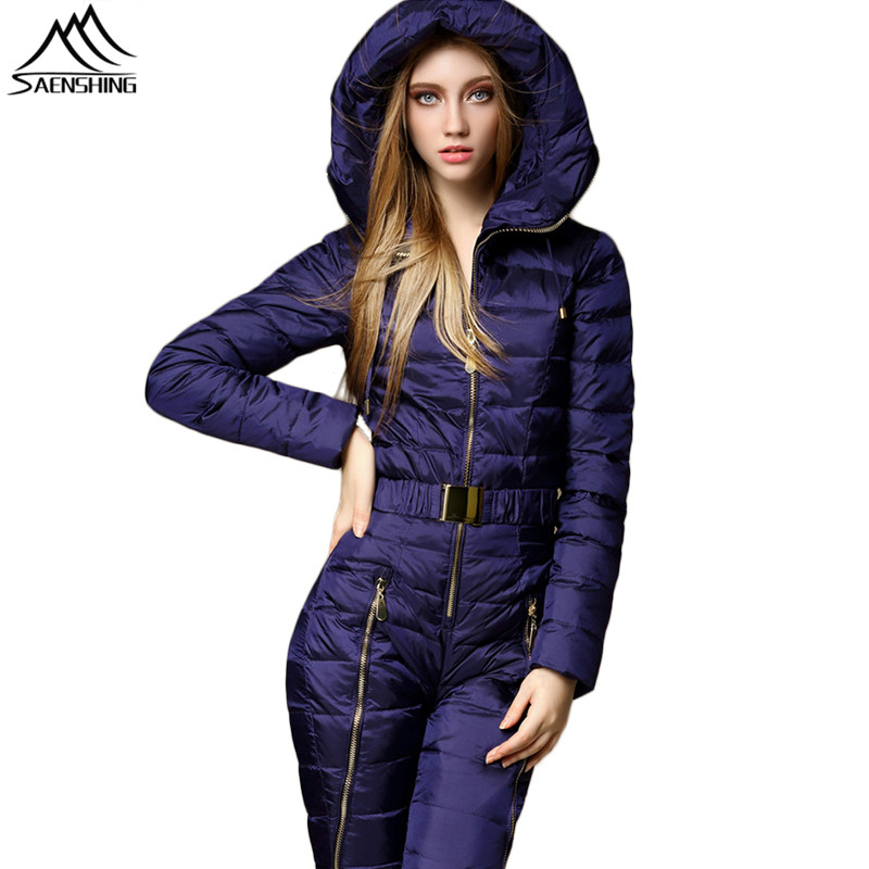 [해외]SAENSHING 원피스 마운틴 스키 정장 여성 다운 웜 스키 정장 겨울 스키 자켓 통기성 야외 겨울 스노우 정장/SAENSHING One Piece Mountain Skiing Suit Women Duck Down Warm Ski Suit Winter Ski