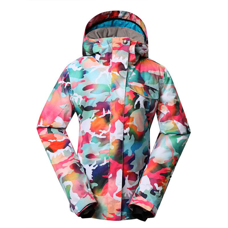 [해외]GSOU SNOW 브랜드 위장 겨울 여성 & 스노우 자켓 스노우 보드 자켓 워튼/GSOU SNOW Brand Camouflage Winter Women&s Ski Snow Jacket Snowboard Jacket Warmth