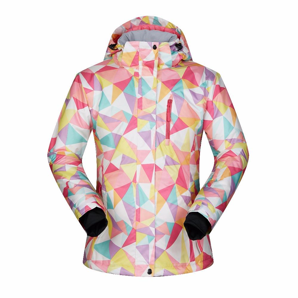 [해외]겨울 스키 자켓 여성 방풍 방수 통기성 따뜻한 여성 코트 야외 열 레이디 스키 브랜드 스노우 보드 자켓