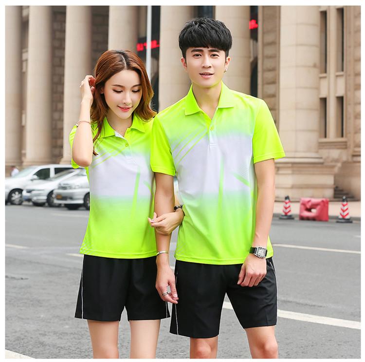 [해외]2018 테니스 셔츠 반바지 남성 여성, 멋진 통기성 배드민턴 옷, 탁구 셔츠, 탁구 티셔츠, 테니스 세트/2018 Tennis Shirts Shorts Men Women , Cool breathable Badminton clothes , table tennis