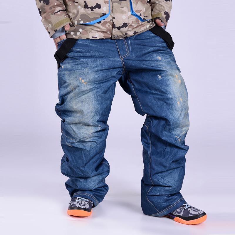 [해외]스노우 보드 바지 남성 데님 스키 바지 스키 바지 남성 겨울 스포츠 통기성 방수 windproof WARM/Snowboarding Pants men Denim Skiing pants ski trousers male winter Sportswear Breathab