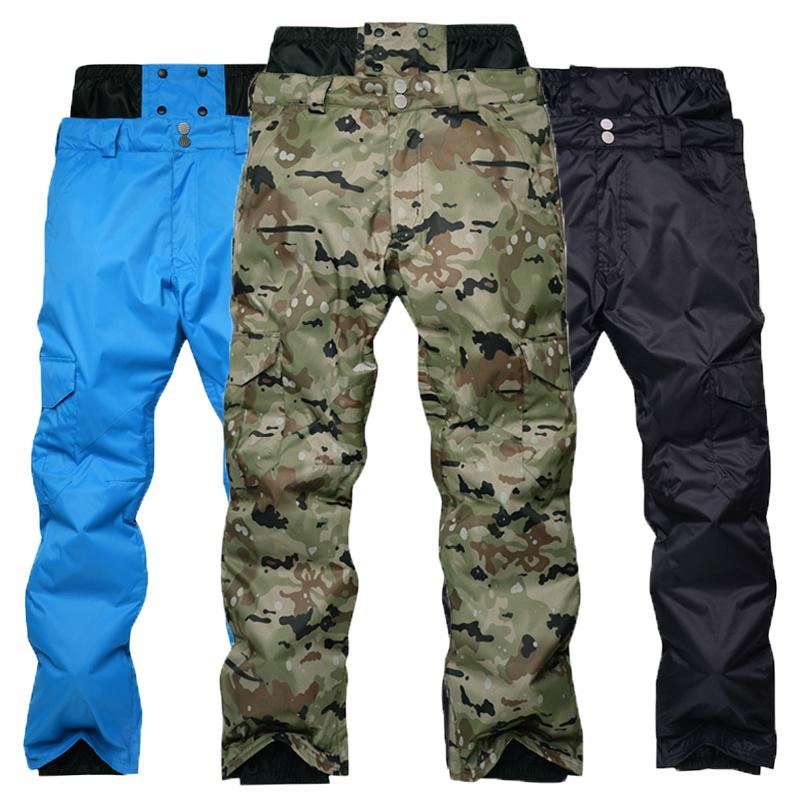 [해외]남성 스노우 보드 팬츠 겨울 야외 방풍 방수 보온 위 두꺼운 위장 하이 - 허리 스키 바지 /Men &s Snowboarding Pants Winter Outdoor Windproof Waterproof Warming Thicker Camouflage High