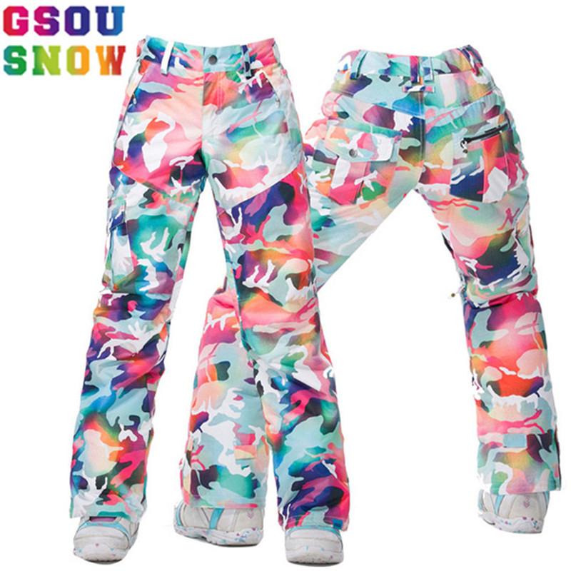 [해외]GSOU SNOW 브랜드 여성 스키 바지 스키 바지 방수 스노우 보드 바지 겨울 야외 스키 스노우 보드 여성 스노우 의류/GSOU SNOW Brand Women Ski Pants Skis Trousers Waterproof Snowboard Pants Winte