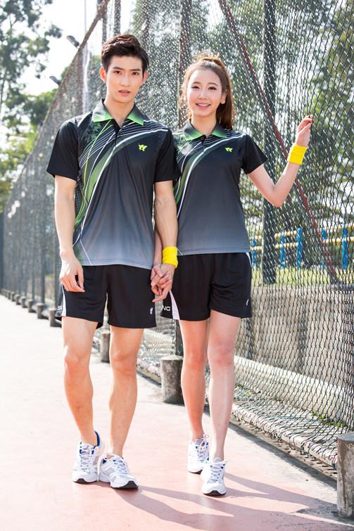 [해외]새로운 패션 탁구 의류 남자 / 여자, 배드민턴 옷, 배드민턴 착용 세트, 스포츠 테니스 옷, 탁구 세트 6877/New fashion Table Tennis clothes Men/Women , badminton clothes , Badminton wear se