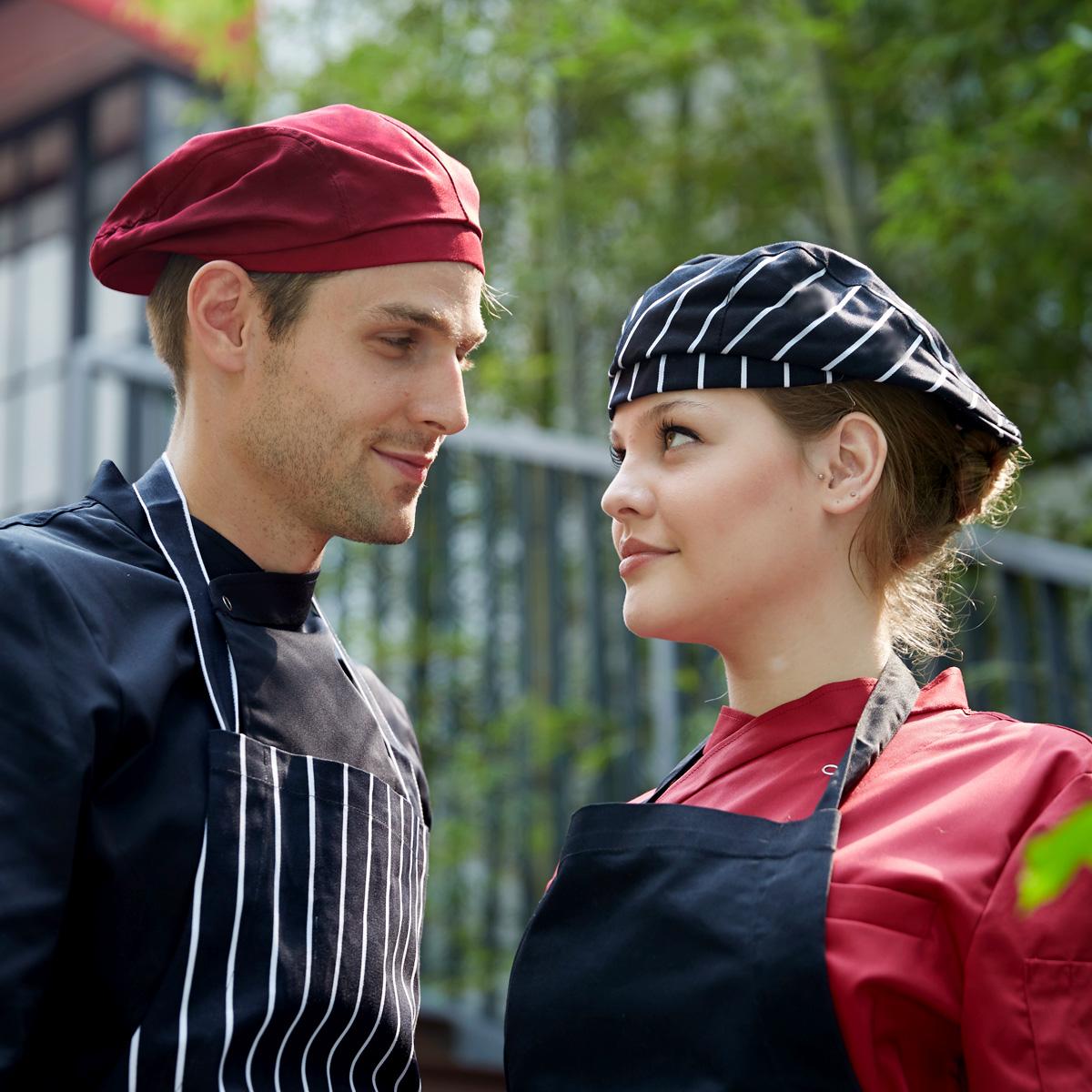 [해외]간단한 남자 레스토랑 요리사 모자 내구성 작업 커피 모자 레이프 빵집 요리사 모자 가족 요리사 모자/Simple man restaurant chef hat durable work coffee cap ray limpets bakery chef hat family