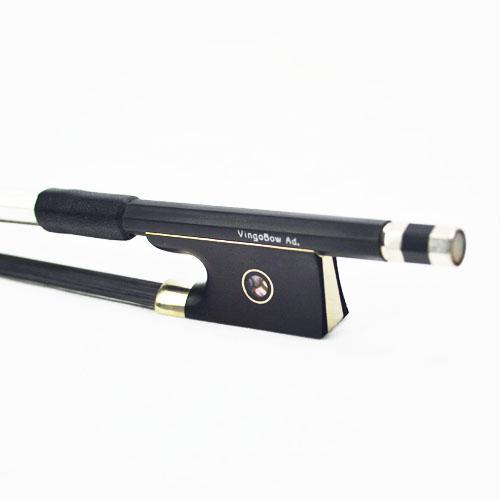 [해외]?4/4 Balck 탄소 섬유 VIOLIN BOW 에보니 개구리 블랙 바이올린 활 헤어 바이올린 부품 액세서리 100VB/ 4/4 Balck Carbon Fiber VIOLIN BOW  Ebony Frog Black Violin Bow Hair Violin Pa