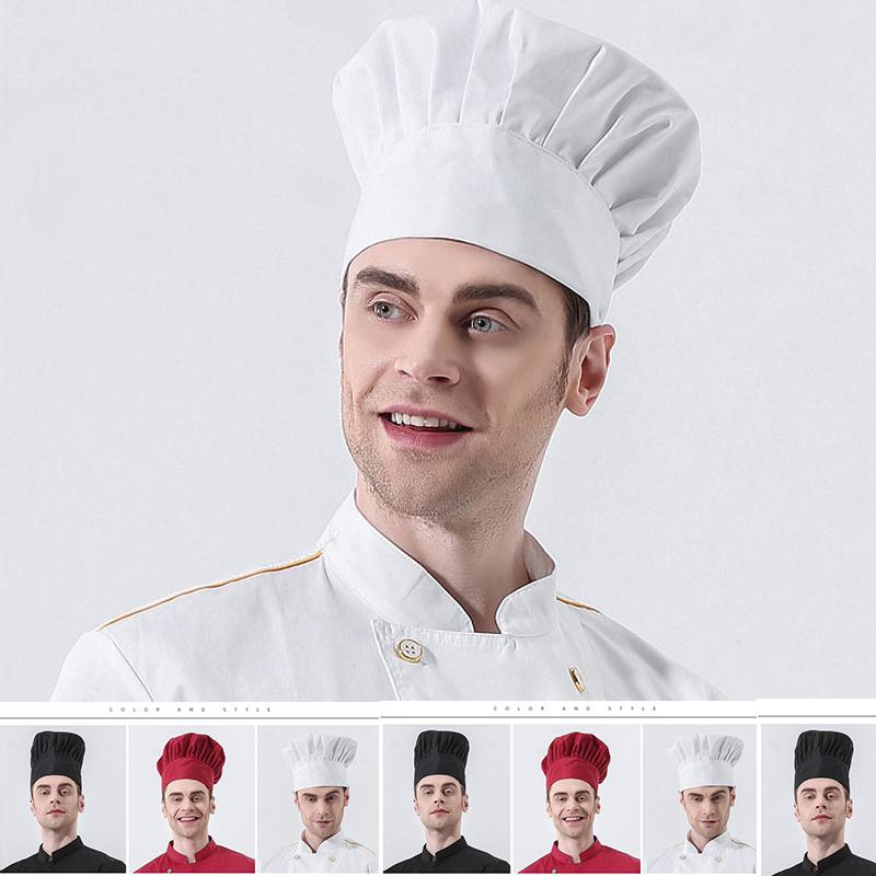 [해외]2018 요리사 모자 천으로 모자 블랙 화이트 주방 레스토랑 베이킹 빵집 케이크 숍 작업 남성 모자면 통기성/2018 Chef Hat Cloth Hat Black White Kitchen Restaurant Baking Bakery Cake Shop Workin