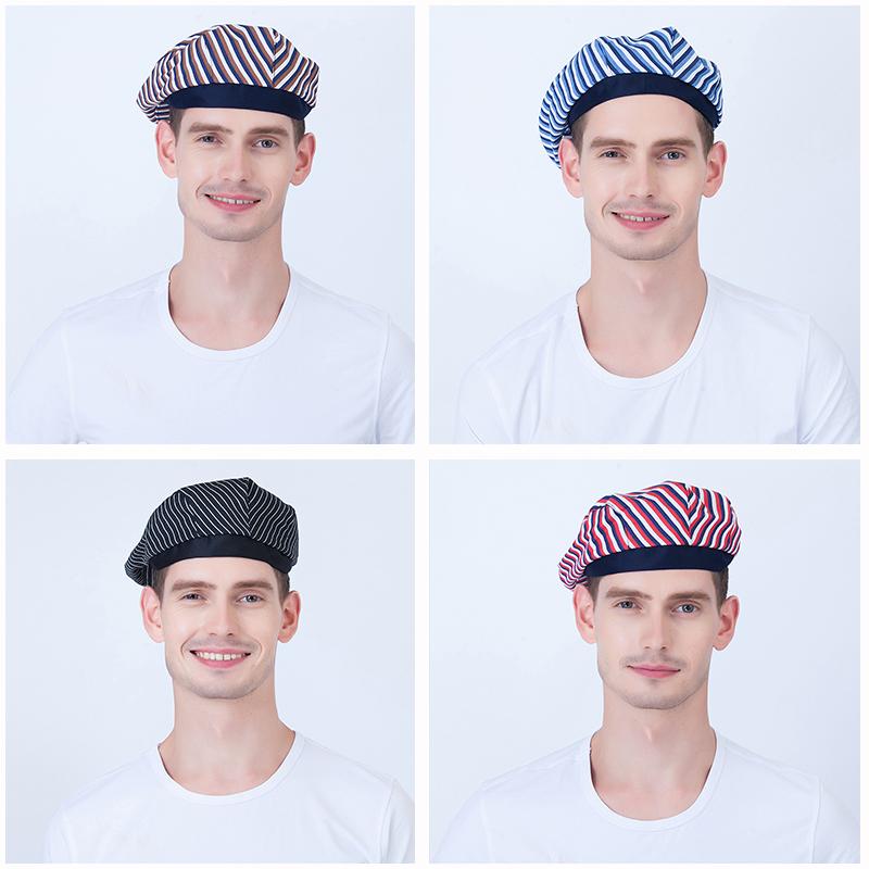 [해외]2018 새로운 패션 베레모 요리사 모자 남녀 커피 바 웨스턴 레스토랑 웨이터 작업 모자 멀티 스타일 선택/2018 new fashion beret chef hat men and women Coffee bar western restaurant waiter wor