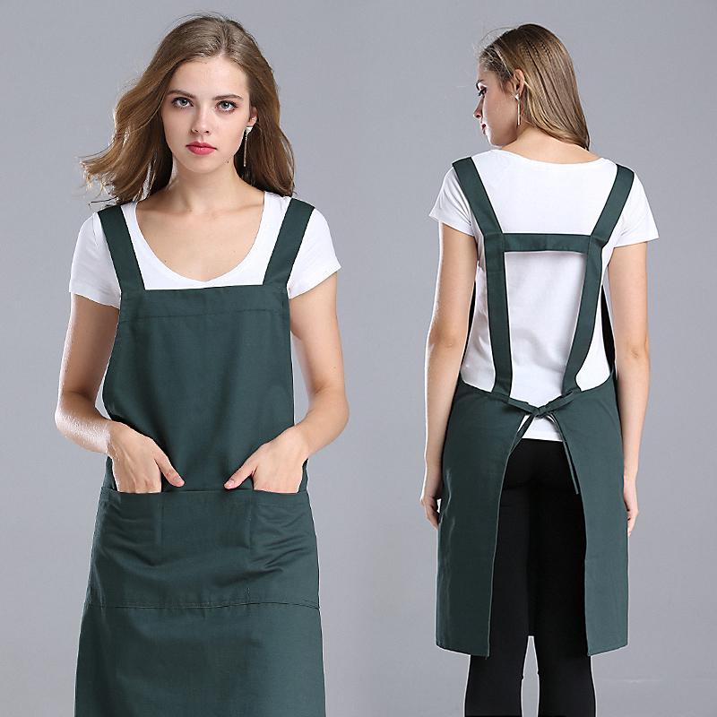 [해외]2018 옵션 요리사 앞치마 패션 작업복 코튼 주방 앞치마 네일 광고 앞치마 단색 6 색 애프터 셰프 웨이터/2018 Chef apron fashion work clothes cotton kitchen apron nail ad apron solid color 6
