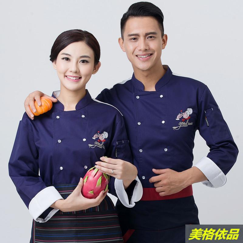 [해외]최고의 요리사 의류 긴 Retail 겨울 서양 요리 요리사 부티..