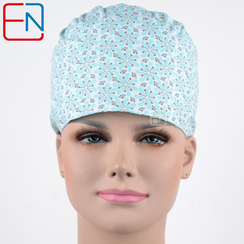 [해외]경질 블루투스, 실험용 캡, 두개골 캡의 수술 용 마개 100 %면/surgical scrub caps in light bluesnows ,lab caps,skull caps   100% cotton