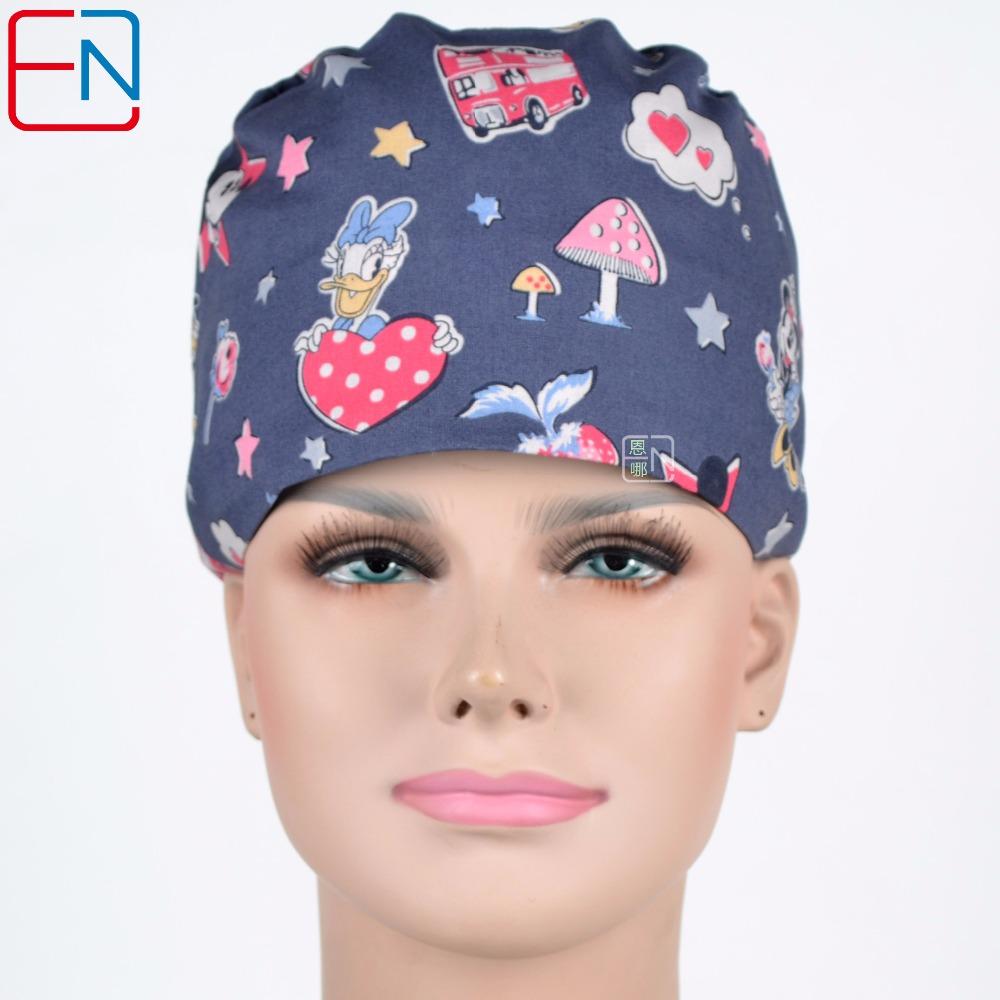 [해외]?회색 Hennar 브랜드의 100 %면 여성용 외과 모자/ 100% cotton women surgical caps in grey Hennar brand