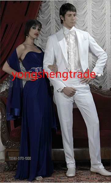[해외]클래식 화이트 웨딩 정장 CoordinatedSatin 옷깃 맞춤 제작 신랑 양복 MS0388/Classic White Wedding Suit CoordinatedSatin Lapel Custom Made Groom Suit MS0388