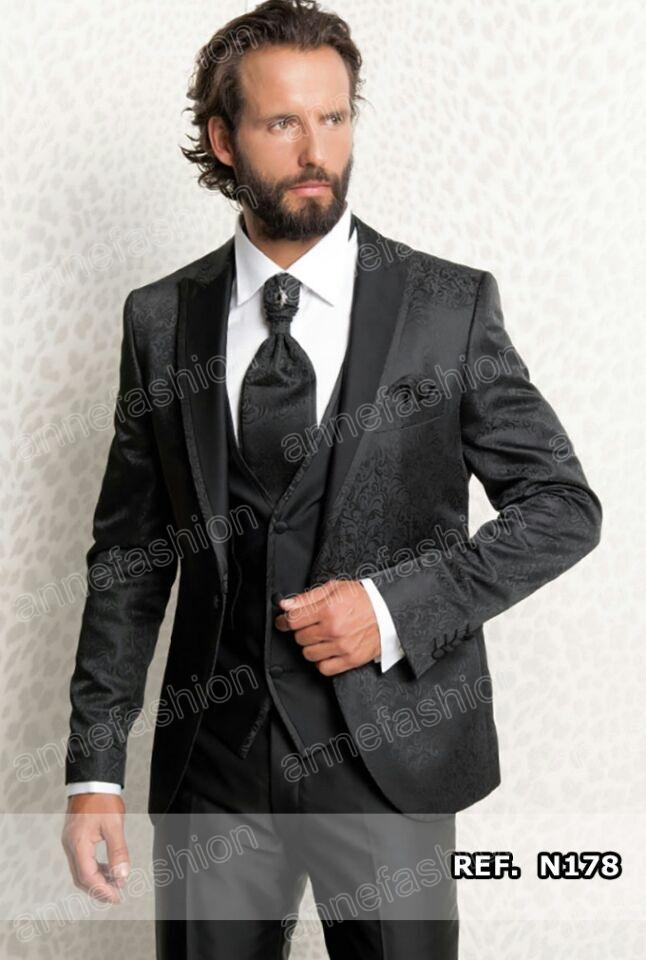 [해외]사용자 정의 만든 웨딩 턱시도 남성 정장 taliored 남성 이벤트 행사의 턱시도 자카드 실크 직물 정장 (재킷 + 바지 + 조끼 + 넥타이)/Custom made Wedding Tuxedos men suits taliored Men Event Ceremony